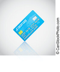 Blue Vector Credit Card