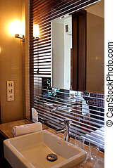 Luxury beautiful modern bathroom