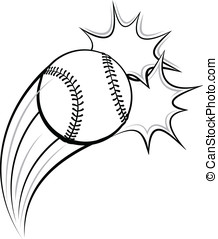 Baseball or Softball Pow - Vector illustration of a baseball...