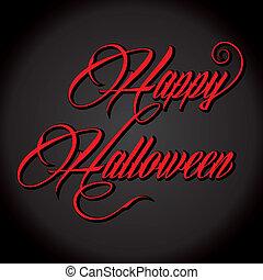 Creative text - Happy Halloween