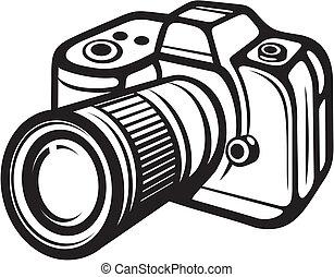 compacto, digital, câmera