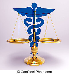 Asclepius & Justice scale - Conceptual idea of justice in...