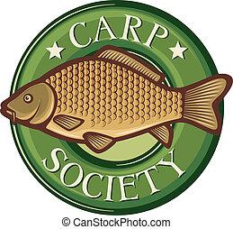 carp society symbol carp society badge, carp fish emblem,...