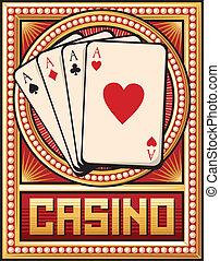 casino label design (four aces)