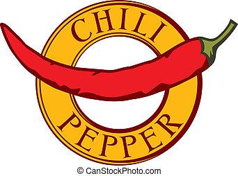chili pepper label