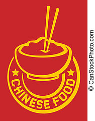 chinese food label chinese food symbol, chinese food and...