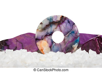 Sugilite or the Healers Stone with a polished disc for...