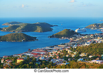 St Thomas harbor - Virgin Islands St Thomas harbor view in...