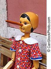 legno,  Pinocchio, burattino, italiano