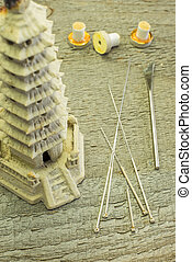 acupuncture needles and moxibustion cones