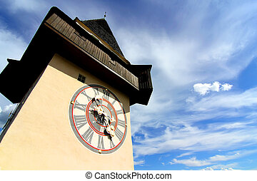 The Clock tower in Graz - The famous Uhrturm (clock tower)...