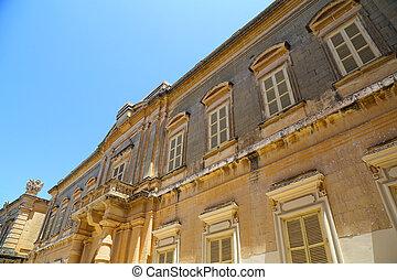 Historic Architecture in Mdina, Malta, southern Europe