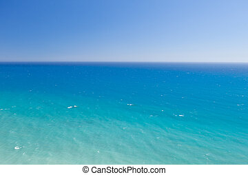 blue sea horizon background