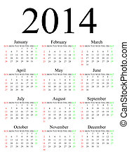 2014 calendar for adv or others purpose use
