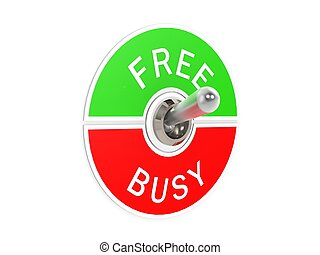 Free busy toggle switch - Hi-res original 3d rendered...