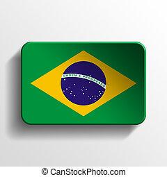 Brasil 3D button