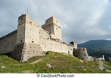 Fortress in Assisi, Italy