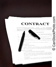 Contract on Desk
