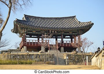 Guard Tower in Jinju Castle - Historical Guard Tower in...