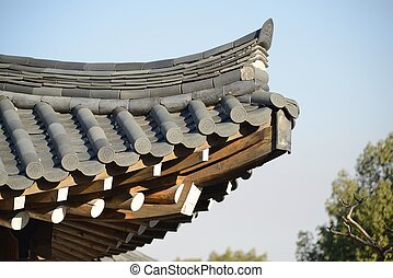 eaves of Korean traditional building