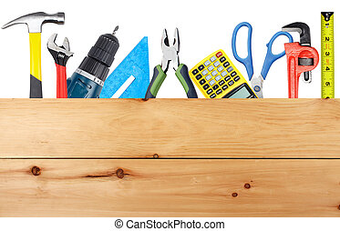 Construction tools Home and house renovation concept...