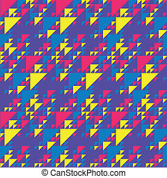 Colorful Triangles Pattern - Seamless background