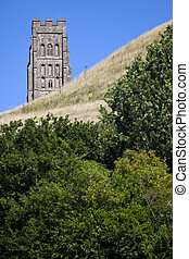 Glastonbury Tor - The historic Glastonbury Tor in Somerset,...