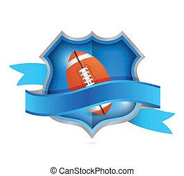 football shield seal illustration design