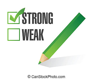 strong over weak selection illustration design over white