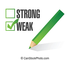 weak over strong selection illustration design over white