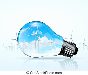 Electric bulb and windmill generators Renewable energy...