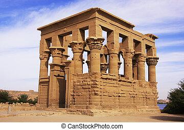 philae,  trajan,  nasser, lago, Quiosque, Templo