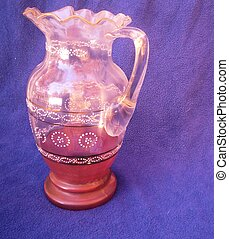 Antique glass pitcher