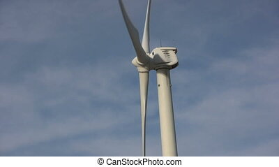 Wind Turbine - a close up of a wind turbine
