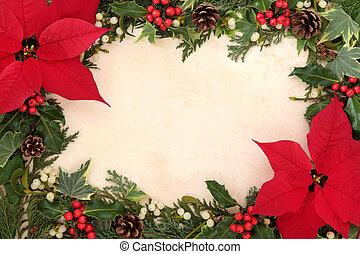 Poinsettia Flower Border - Thanksgiving and christmas border...