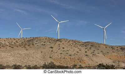 Wind Farm - a wind farm on a desert hilltop