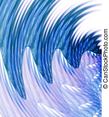 Wavy Streaks Abstract - Flowing, wavy curves of streaking...