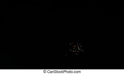 fireworks display with sound
