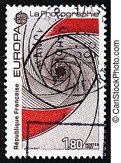 Postage stamp France 1983 Symbolic Shutter, Photography -...