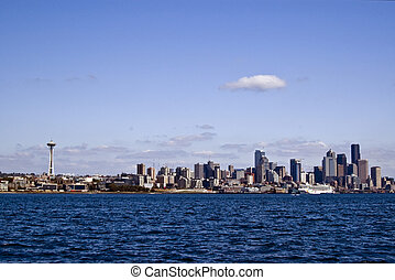 Seattle City Skyline with Space Needle - This picture was...
