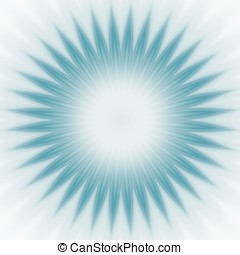 Blue Star Burst Abstract - Surreal blue pointed starburst...