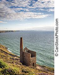 St Agnes in Cornwall - Wheal Coates tine mine engine house...
