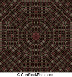 Intricate Octagon Abstract - Dark intricate, octagon...