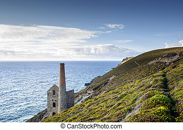 St Agnes in Cornwall - The coast at St Agnes in Cornwall...