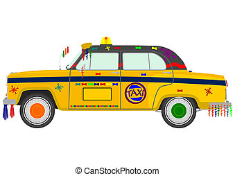 Taxi - Colorful Indian taxi