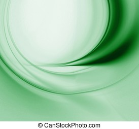 Flowing Greens Abstract - Flowing green texture blends with...