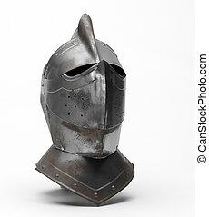 Metal helmet of the knight
