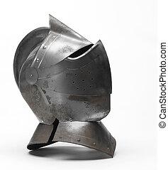 Metal helmet of the knigh