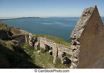 Ruin at Cliffwalk between Bray and Greystone, Ireland - The...