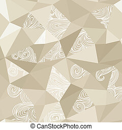 Crumpled paper with doodle stains seamless-model for design...